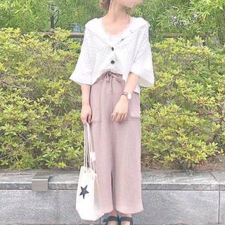 GU - ジーユー GU ワッフルドローストリングロースカート