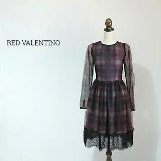 レッドヴァレンティノ(RED VALENTINO)のRED VALENTINO レッドヴァレンティノ ワンピース チェック(ひざ丈ワンピース)