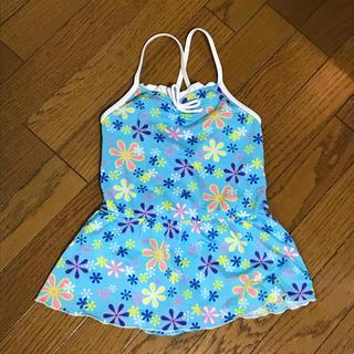 ニシマツヤ(西松屋)の水着 女の子  130サイズ  花柄  ブルー(水着)