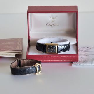 Cartier - OH済み 国際保証書付き カルティエ マストタンク  ブラック 渡辺桂子
