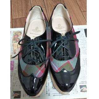 ヴィヴィアンウエストウッド(Vivienne Westwood)のレア/ヴィヴィアン・ウエストウッド/ワールズエンド限定ロッキンホース・ギリー(ローファー/革靴)