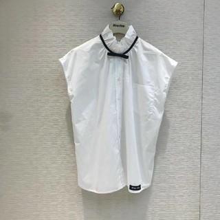 miumiu - MIUMIU  ブラウス  袖なし  カワイイ  春夏物