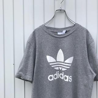 adidas - アディダス Tシャツ トレフォイル グレー 古着女子