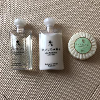 ブルガリ(BVLGARI)のBVLGARI シャンプー、ボディーローション、石鹸 3点セット(ボディソープ / 石鹸)