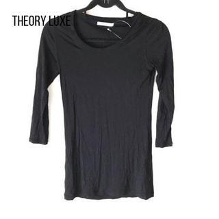 Theory luxe - セオリーリュクス 七分袖Tシャツ サイズ38 M レディース 黒