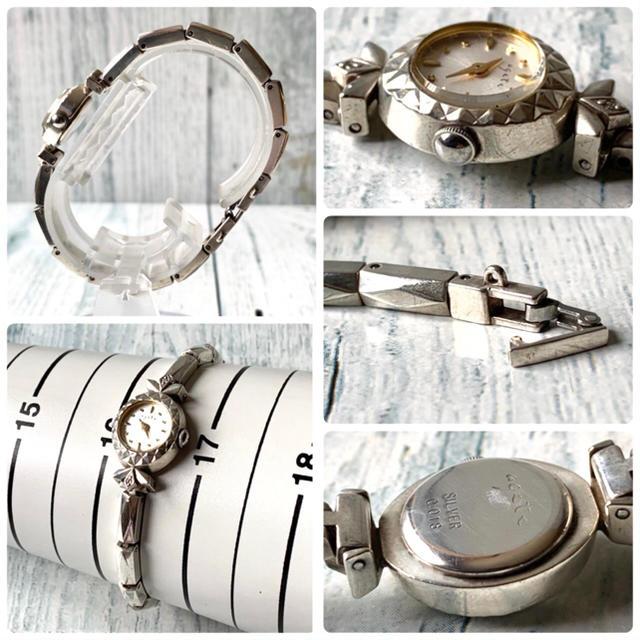 agete(アガット)の【電池交換済み】agete アガット 腕時計 0.018ct ダイヤ シルバー レディースのファッション小物(腕時計)の商品写真