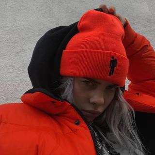 Billie eilish beanie orange