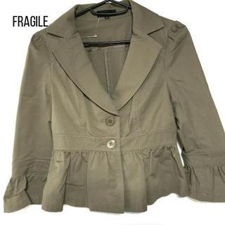 FRAGILE - FRAGILE(フラジール) ジャケット レディース カーキ