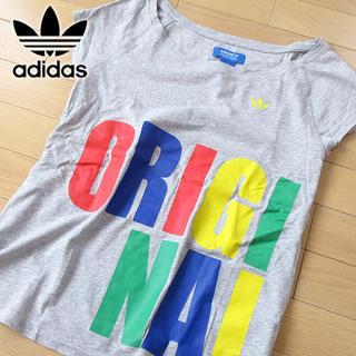 アディダス(adidas)の韓国限定 超美品 L位 アディダスオリジナルス レディース 半袖Tシャツ グレー(Tシャツ/カットソー(半袖/袖なし))