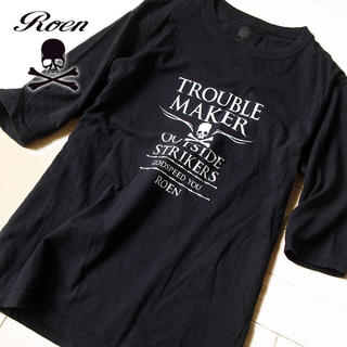 Roen - 美品 46(M位) Roen ロエン メンズ 5分袖カットソー ブラック