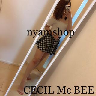 CECIL McBEE - セシルマクビー  千鳥柄キュロットスカート
