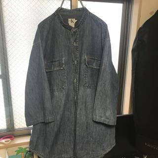 カルバンクライン(Calvin Klein)の90s オールドカルバンクライン デニムシャツ 丸襟 七分袖 ゆるダボ(シャツ)
