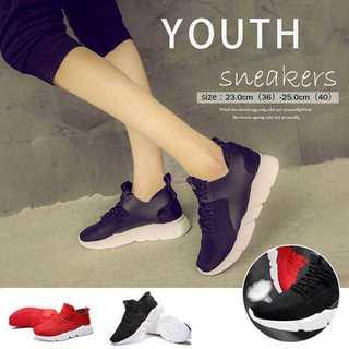 【新品】スニーカー スポーツシューズ 通気性 ランニングシューズ 履きやすい靴(スニーカー)