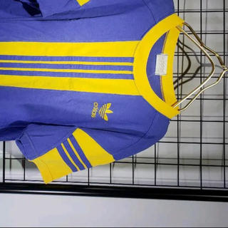 アディダス(adidas)のadidas 80s レアカラー Tシャツ 黄色紫 トレフォイル アディダス(Tシャツ/カットソー(半袖/袖なし))