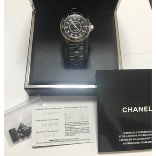 シャネル(CHANEL)のほぼ新品★CHANEL J12 ダイヤ入 セラミック ウオッチ 腕時計 シャネル(腕時計(アナログ))