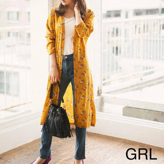 GRL - GRL 新品 花柄シャツガウン ロングカーディガン