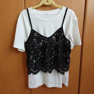 GU - 【美品】GU キャミソール&Tシャツセット