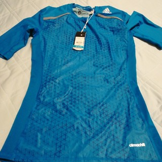 アディダス(adidas)のアディダス半袖青o(Tシャツ/カットソー(半袖/袖なし))