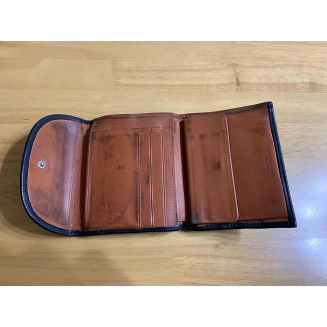 WHITEHOUSE COX(ホワイトハウスコックス)のホワイトハウスコックス ダービーコレクション 馬革  ネイビー×タン S1058 メンズのファッション小物(折り財布)の商品写真