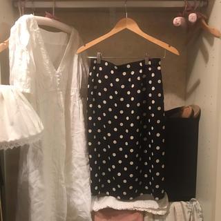 vintage dot skirt.