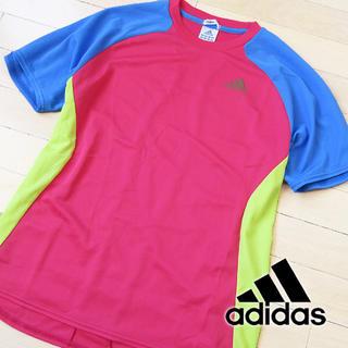 アディダス(adidas)の美品 Mサイズ アディダス climacool 配色切替 メンズ 半袖Tシャツ(Tシャツ/カットソー(半袖/袖なし))
