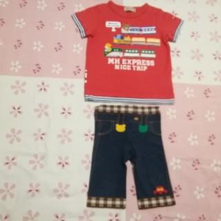 ミキハウス(mikihouse)のミキハウスTシャツ&パンツ80 セット(Tシャツ)