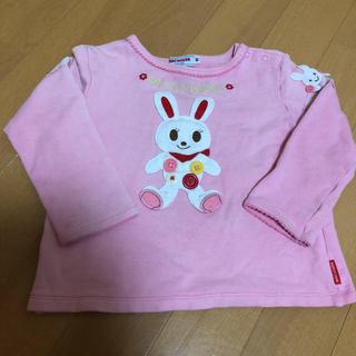 ミキハウス(mikihouse)の90cm ミキハウス 立体 うさこちゃん 長袖 トレーナー(Tシャツ/カットソー)