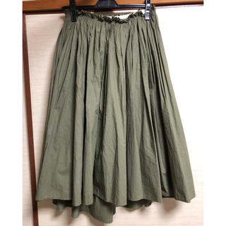 デミルクスビームス(Demi-Luxe BEAMS)のDemi-luxe beams アシメトリーギャザースカート(ひざ丈スカート)