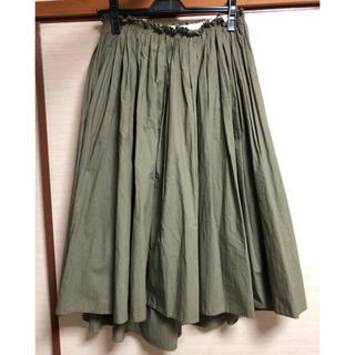 Demi-Luxe BEAMS - Demi-luxe beams アシメトリーギャザースカート