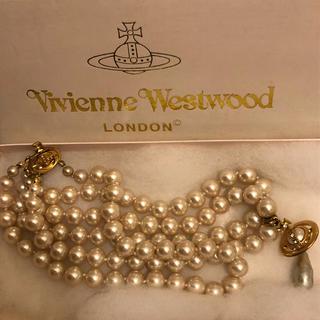 ヴィヴィアンウエストウッド(Vivienne Westwood)の初期 3連パールチョーカー(ネックレス)