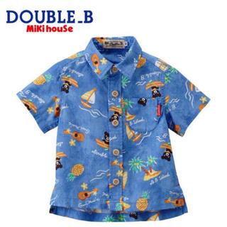 DOUBLE.B - ★ダブルB130★トロピカル★半袖シャツ★ミキハウス★ビーくん★アロハシャツ★