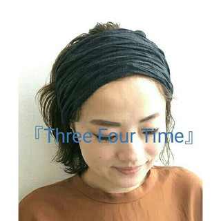 ThreeFourTime - 新品同様★『Three Four Time』ヘアバンド◆定価¥1620
