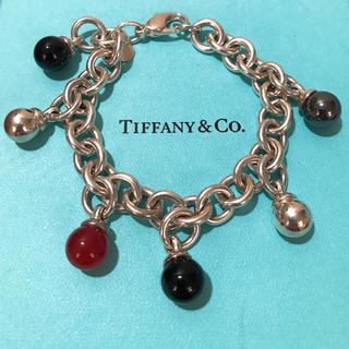 ティファニー(Tiffany & Co.)のティファニー Tiffany ボール ストーン ブレスレット 天然石 オニキス(ブレスレット/バングル)