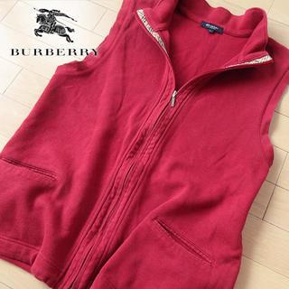 BURBERRY - バーバリーロンドン Lサイズ メンズ ノースリーブジャケット/ベスト レッド