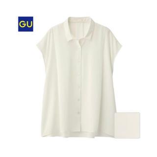 ジーユー(GU)の【GU】エアリーシャツ 半袖 Sサイズ(シャツ/ブラウス(半袖/袖なし))