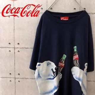 コカコーラ(コカ・コーラ)の【激レア】90s コカコーラ 白くま デカTシャツ(Tシャツ/カットソー(半袖/袖なし))
