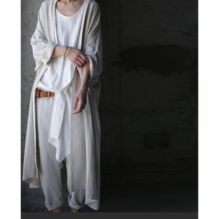 antiqua - 綿麻ロングジャケット