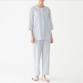 ムジルシリョウヒン(MUJI (無印良品))の脇に縫い目のない 細番手二重ガーゼ 七分袖パジャマ・婦人L(パジャマ)