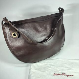 サルヴァトーレフェラガモ(Salvatore Ferragamo)のフェラガモ ガンチーニ ショルダー ダークブラウン 保存袋(ショルダーバッグ)