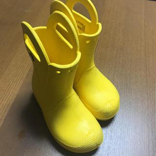crocs - クロックス 長靴 18 18.5 黄色 男の子 女の子