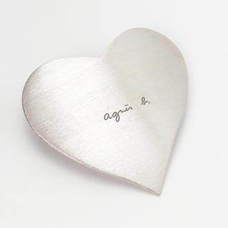 agnes b. - アニエス・ベー ハート バレッタ シルバー