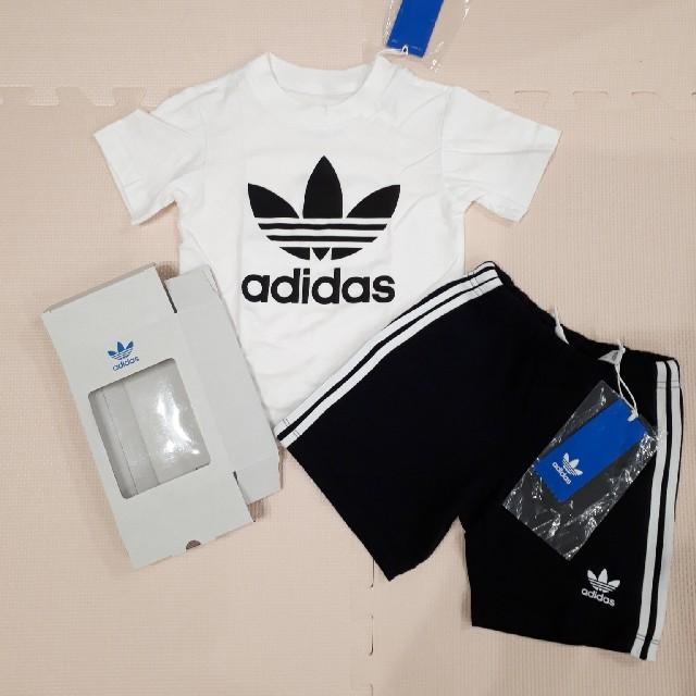 adidas(アディダス)のadidas originals Tシャツ 親子セット キッズ/ベビー/マタニティのキッズ服 男の子用(90cm~)(Tシャツ/カットソー)の商品写真