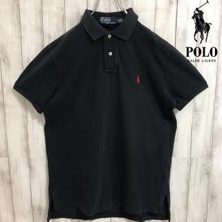 Ralph Lauren - 90s 古着 ラルフローレン ワンポイント刺繍ロゴ ポロシャツ