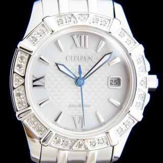 CITIZEN - 新品 海外限定 シチズン 28石ダイヤ エコドライブ レディース ソーラー腕時計