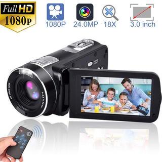 ビデオカメラ デジタルカメラ カムコーダー フルHD 18Xデジタルズームナイト