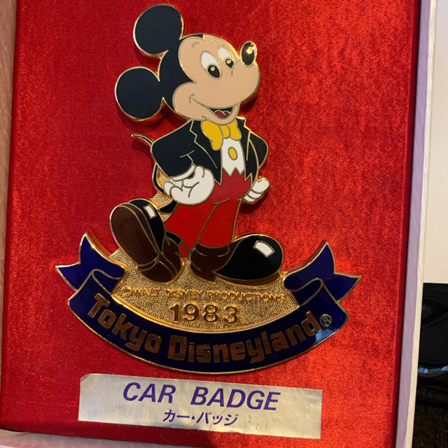ディズニーカーバッジ 自動車/バイクの自動車(車外アクセサリ)の商品写真