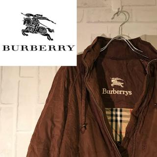 バーバリー(BURBERRY)の【希少】バーバリー Burberry シングルZIP ブラウン 中綿入り B柄(ロングコート)