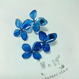 綺麗な深いブルー紫陽花ピアス(ピアス)