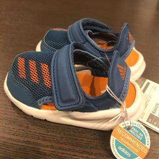 adidas - 【新品★タグ付き】adidas サンダル 青/オレンジ 12cm