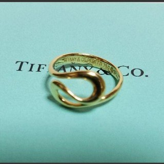 Tiffany & Co. - TIFFANY&CO.  ティファニー 18金 オープンウェーブリング《7号》